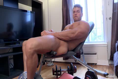 Brad Aka Philippe Lebrun, bare Ripped Workout