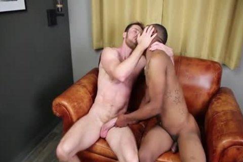 darksome On White banging naked, Cumming Inside And Eating cum