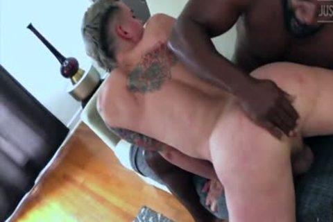 Interracial Barefuck With darksome Horscock