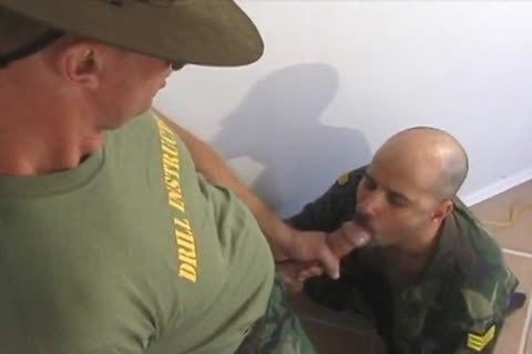Soldier Serves His Sergeant (deepthroad, Balls, nailing)