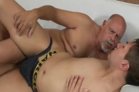 Smooth twink Barefucked By daddy corpulent chap