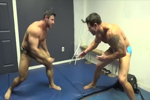 Muscle males Zach Joey Wrestle LathanArch 480p 030414 two