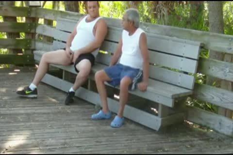 outside Scenes Where grandpa Sucks & acquires fucked By fat