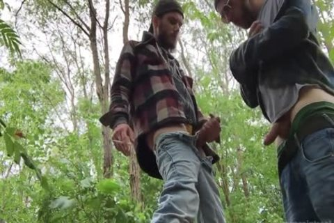 2 Rednecks engulf knob And drink lots of piss outdoors