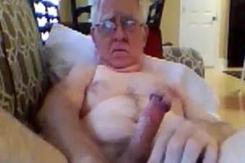 older man cum On cam