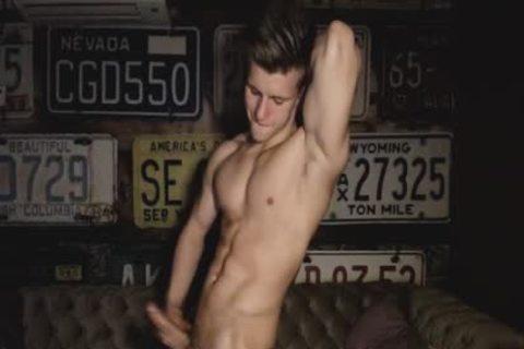Woody Danielson On Flirt4Free - sexy blond Hung web camera Model Jerks His perfect ramrod