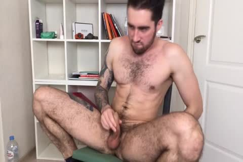bushy And muscular Russian dudes Alex discharges A large Load
