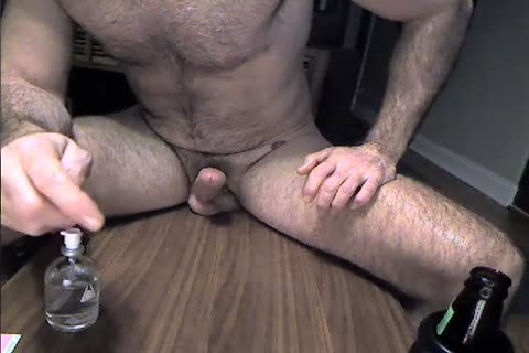 hairy Daddy Rides A vibrator And Cums