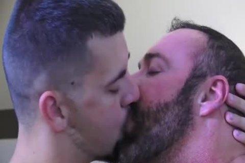 Josh Stone And Large Daddy Bear Brad Kalvo