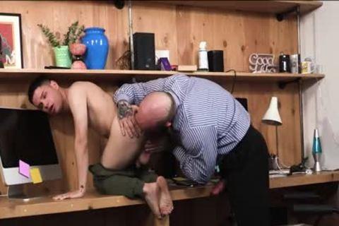 gigantic dick Bushy StepDad pounds His Stepson