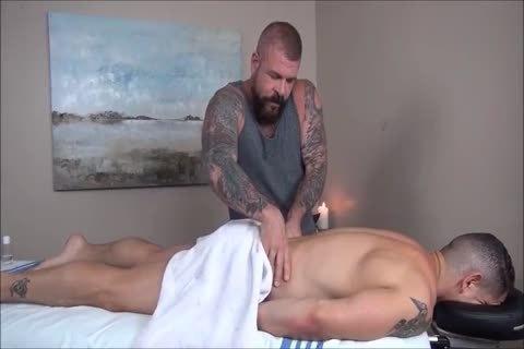 Rocco Steele's Dads bare Massage