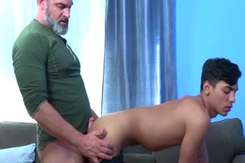 Latin Exchange Student gets slammed Hard By Daddy