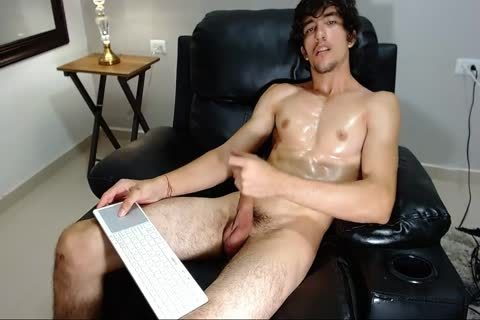 19yo muscular lad Sebastian Strokes His monstrous cock And cum