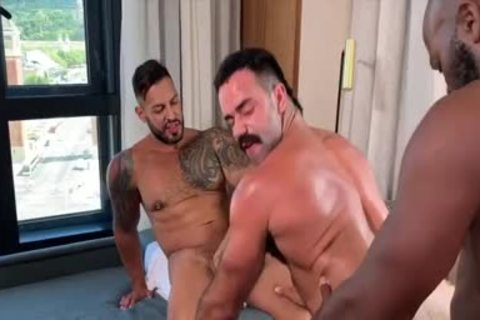 I'm A Fan Of His Way Of Engulfing And Being Bottom: Damn So lovely three-some