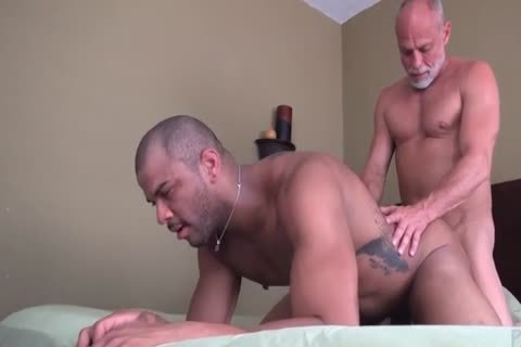 grand-dad nails His Muscled black Toyboy