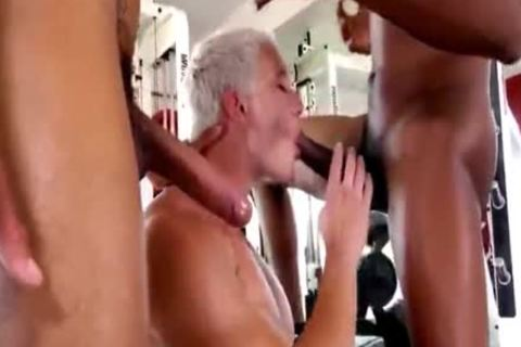 Blond pecker acquires pounded By Two black dicks