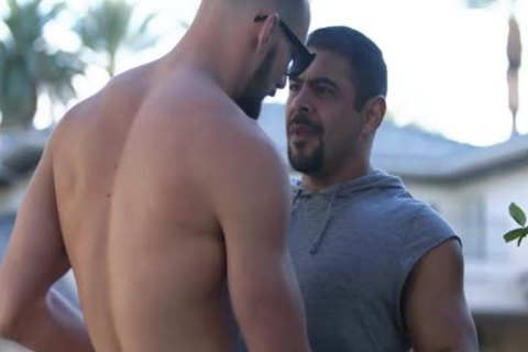 lusty Hunks Johnny And Draven nail In Sunny Patio