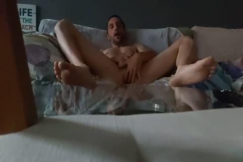 Skinny lad Masturbating