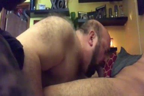old Chub Bear sucking And Eating love juice.