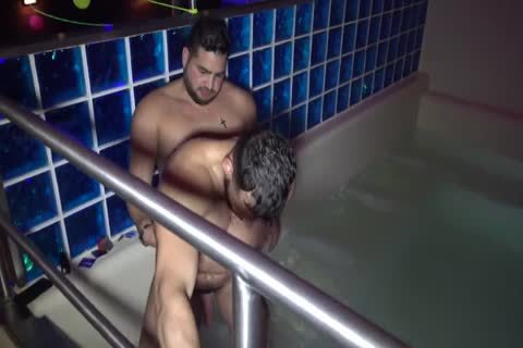 filthy plump Bear hammering In baths house
