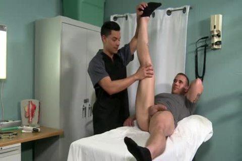 Nurse Gives A Physical