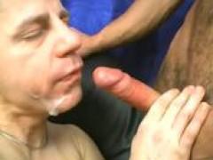 Bald mature gay loves to ride humongous hard dicks