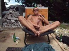 beer, strokeing, smoking, at work